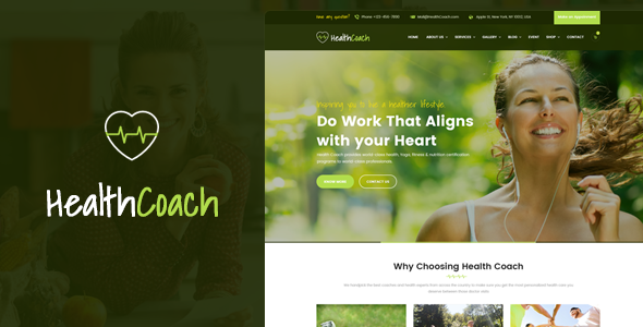 Download Health Coach Html Template For Personal Life