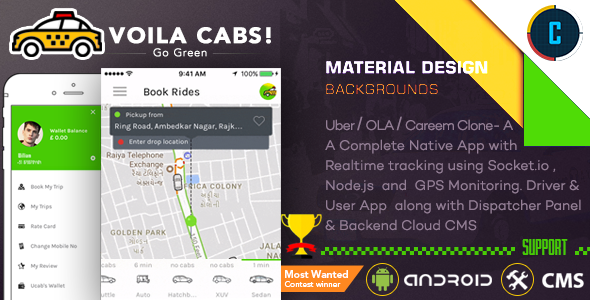 Download] Taxi Booking App - A Complete Clone of UBER with User