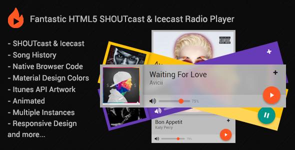 Download] myCast - Fantastic HTML5 SHOUTcast Radio Player Nulled