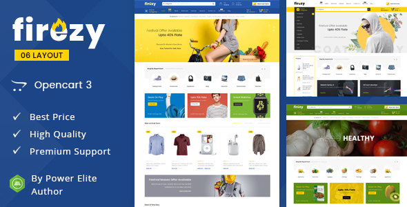Download] Firezy - Multipurpose OpenCart 3 Theme Nulled