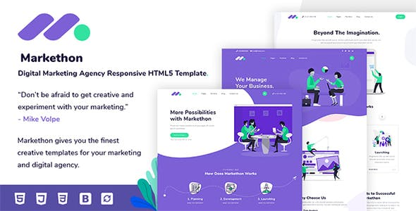 Download] Markethon - Digital Marketing Agency Responsive HTML5