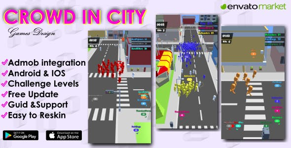 Download] Crowd in City - Unity 3D Game Template for Android & IOS