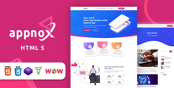 Appnox – Product Landing HTML 5 Template