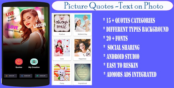 photo quote creator text on photo editor nulled